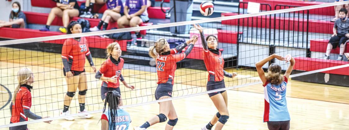 JV Lady Cub volleyball team host the Hirschi Huskies