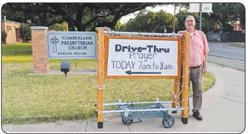 Drive-Thru Prayer at Cumberland Presbyterian