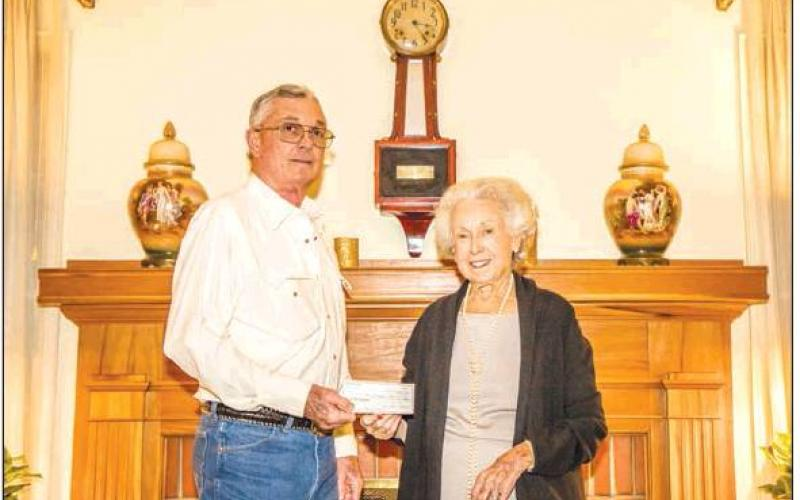 Precinct Chairman Burgess and Mrs. Atchley talk 1950s politics and the 2019 Republican gala