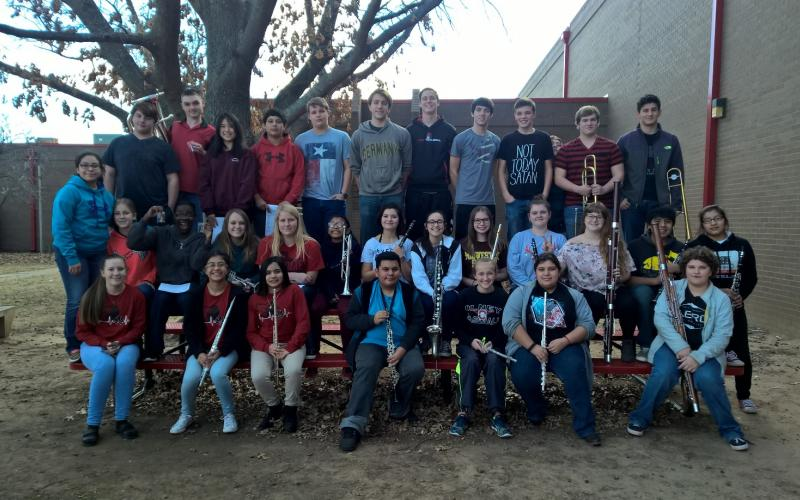 Shown here are the participants of the regional solo and ensemble contest.