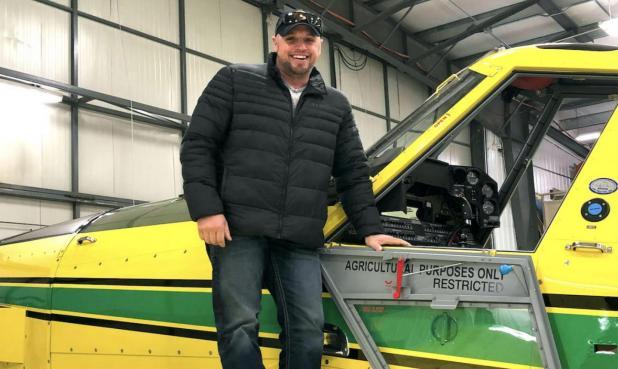 100th AT-502XP flies with Saskatchewan colors