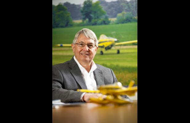 Shown here is Air Tractor Vice President of Finance David Ickert. Ickert was recently honored by Midwestern State.