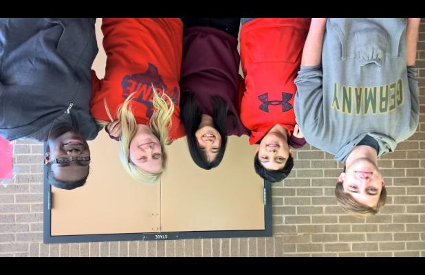 Shown here are percussion ensemble state qualifiers Darian Allen, Gabe Garza, Melanie Allen and La'Anna Golden.