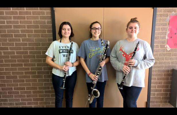 Shown here are Olivia Kulhanek, Jenny Ford and Amber McCutcheon, whose trio also qualified for state.