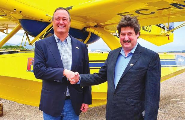 Sweden's wildfire defense expands with Air Tractor scooper water bombers