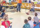 Olney Enterprise visits Kindergarten