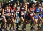 The Olney High School Cross Country Team gets off to a solid start during the regional meet in Grand Prairie.